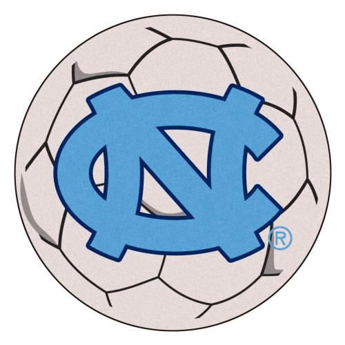 """27"""" Gray NCAA University of North Carolina Chapel Hill Tar Heels Soccer Ball Door Mat - IMAGE 1"""
