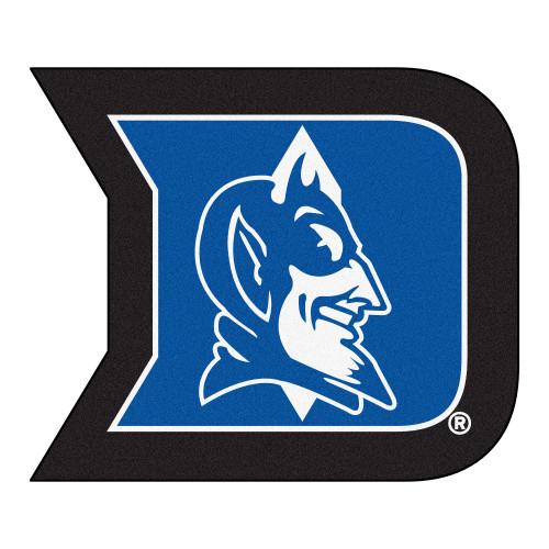 "35.5"" x 30"" Blue and Black NCAA Duke University Blue Devils Mascot Mat Logo Area Rug - IMAGE 1"