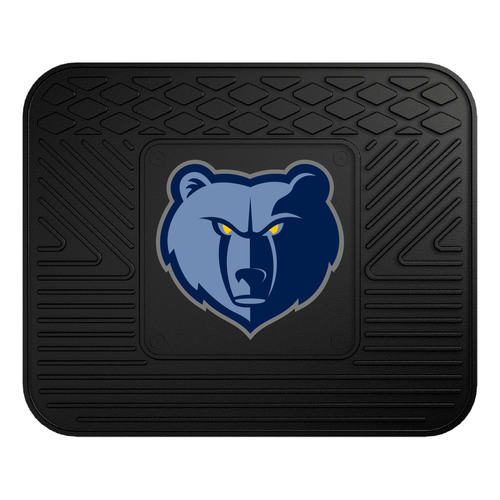 "14"" x 17"" Black and Blue NBA Memphis Grizzlies Heavy Duty Rear Car Seat Utility Mat - IMAGE 1"