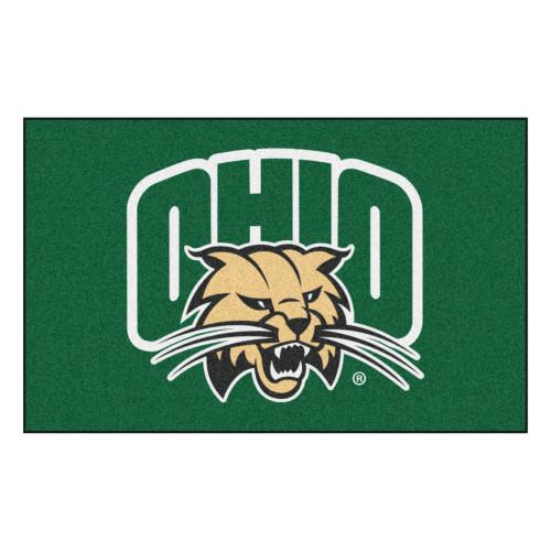 5' x 8' Green NCAA Ohio University Bobcats Outdoor Rectangular Area Rug - IMAGE 1