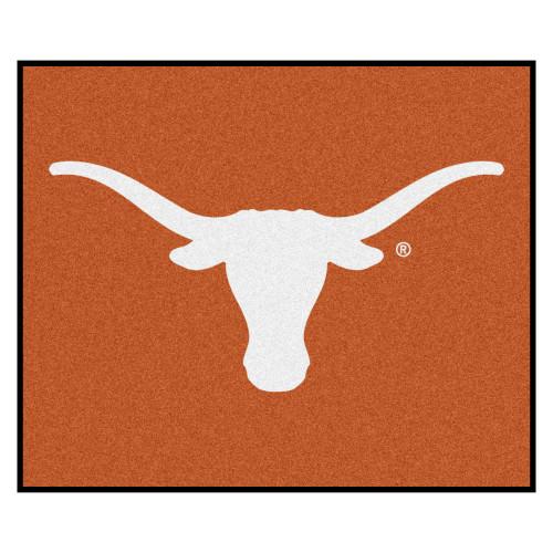 5' x 6' Orange and White NCAA University of Texas Longhorns Tailgater Rectangular Outdoor Area Rug - IMAGE 1
