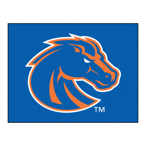"""33.75"""" x 42.5"""" Blue and White NCAA Boise State University Broncos All-Star Rectangular Mat - IMAGE 1"""