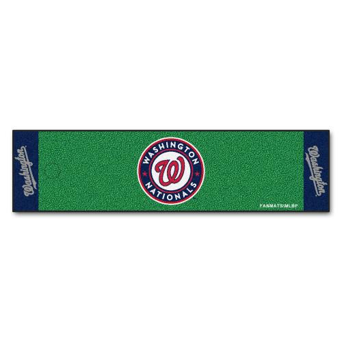"18"" x 72"" Green and Blue MLB Washington Nationals Golf Putting Mat - IMAGE 1"