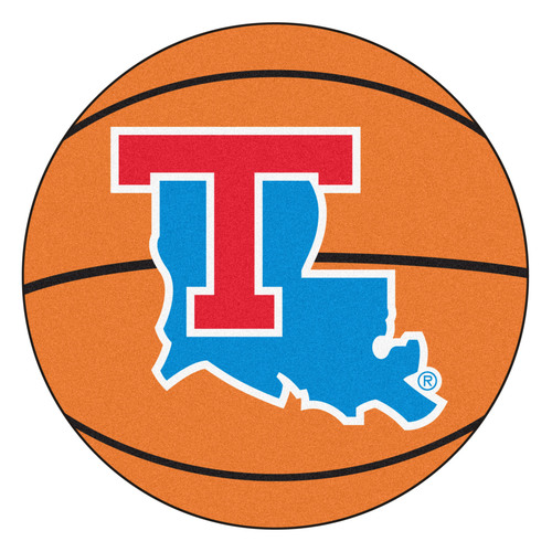 "27"" Orange and Blue NCAA Louisiana Tech University Tigers Mat Area Rug - IMAGE 1"