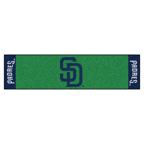 """18"""" x 72"""" Green and Yellow MLB San Diego Padres Golf Putting Mat - IMAGE 1"""