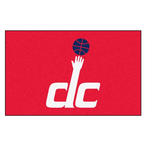 "59.5"" x 94.5"" Red and White NBA Washington Wizards Ulti-Mat Rectangular Outdoor Area Rug - IMAGE 1"
