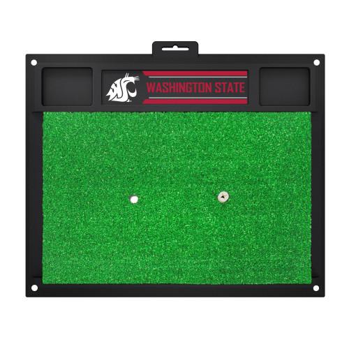 "20"" x 17"" Green NCAA Washington State University Cougars Golf Hitting Practice Mat - IMAGE 1"