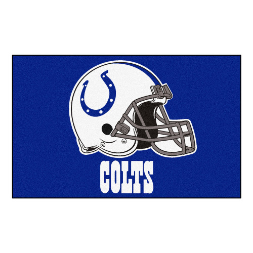 """59.5"""" x 94.5"""" Blue and White NFL Indianapolis Colts Ulti-Mat Rectangular Mat - IMAGE 1"""