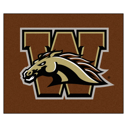 "59.5"" x 71"" Brown NCAA Western Michigan University Broncos Rectangular Tailgater Mat - IMAGE 1"