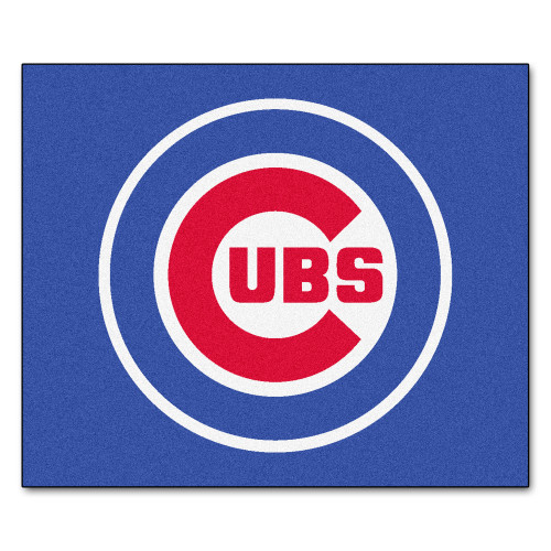 """59.5"""" x 71"""" Blue and Red MLB Chicago Cubs Rectangular Tailgater Mat Outdoor Area Rug - IMAGE 1"""