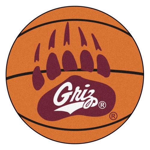 NCAA University of Montana Grizzlies  Basketball Shaped Mat Area Rug - IMAGE 1