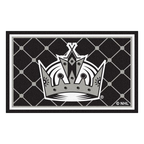 4' x 6' Black Rectangular Plush Non-Skid Area Rug - IMAGE 1