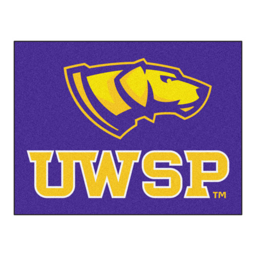 """33.75"""" x 42.5"""" Yellow and Purple NCAA University of Wisconsin-Stevens Point Pointers All-Star Mat - IMAGE 1"""