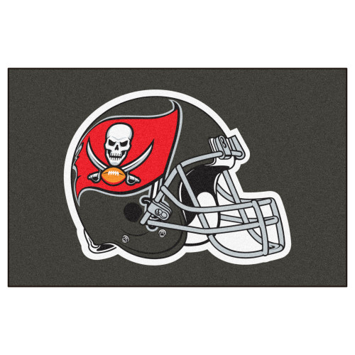 """19"""" x 30"""" Gray and Red NFL Tampa Bay Buccaneers Rectangular Starter Mat - IMAGE 1"""