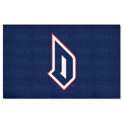 4.9' x 7.8' Blue and White NCAA Duquesne University Dukes Rectangular Area Rug - IMAGE 1