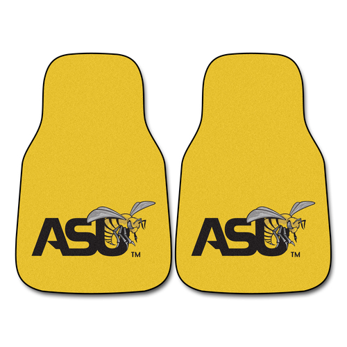 "Set of 2 Yellow NCAA Alabama State University Crimson Tide Front Carpet Car Mats 17"" x 27"" - IMAGE 1"