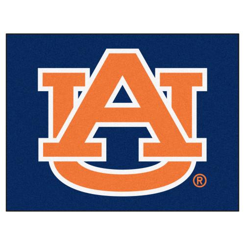"33.75"" x 42.5"" Blue and Orange NCAA Auburn University Tigers All Star Non-Skid Mat Area Rug - IMAGE 1"