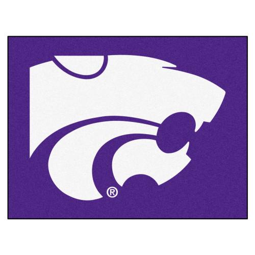 "33.75"" x 42.5"" Purple and White NCAA Kansas State University Wildcats All Star Mat - IMAGE 1"
