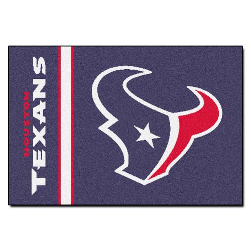 """19"""" x 30"""" Purple and Red NFL Houston Texans Starter Rectangular Door Mat - IMAGE 1"""