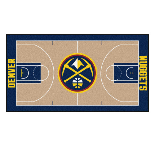NBA Denver Nuggets NBA Court Non-Skid Mat Area Rug Runner - IMAGE 1