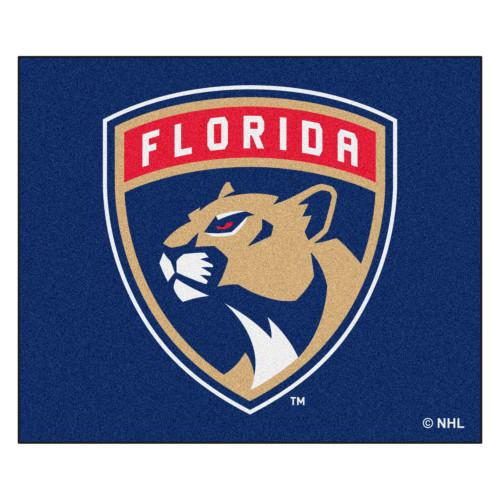 4.9' x 5.9' Blue and White NHL Florida Panthers Rectangular Mat Area Rug - IMAGE 1
