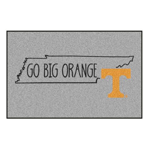 "19"" x 30"" Gray and Yellow NCAA University of Tennessee Volunteers Starter Mat Area Rug - IMAGE 1"