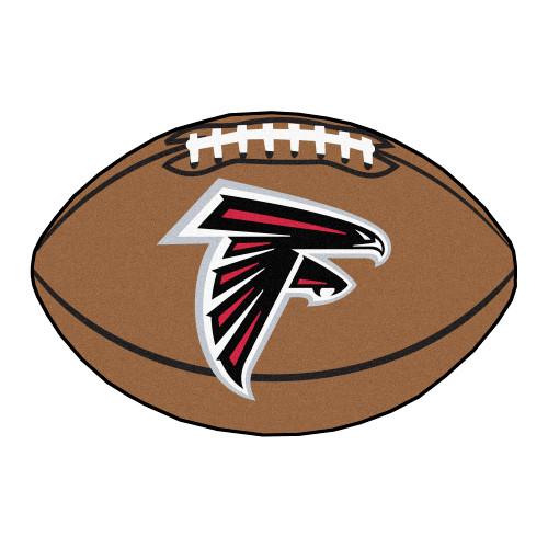 "20.5"" x 32.5"" Brown and White NFL Atlanta Falcons Football Mat - IMAGE 1"