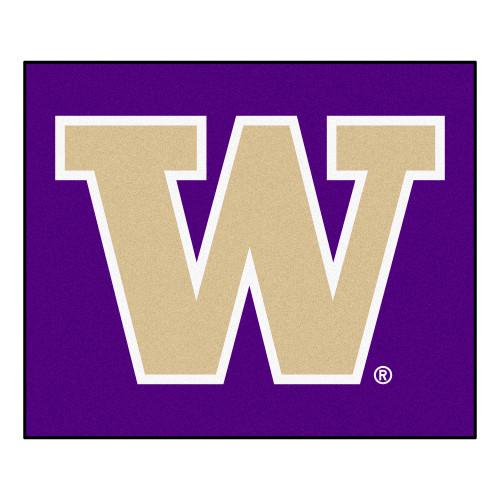4.9' x 5.9' Purple and Beige NCAA University of Washington Huskies Tailgater Mat Area Rug - IMAGE 1