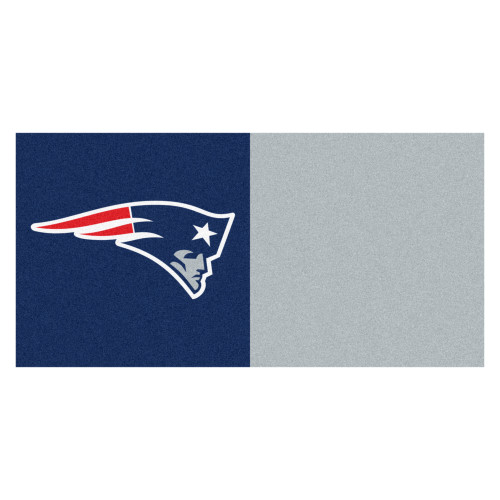 "20pc Blue and Red NFL New England Patriots Team Carpet Tile Set 18"" x 18"" - IMAGE 1"