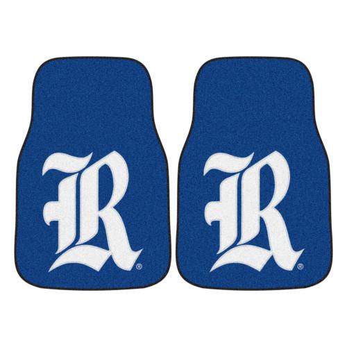 "Set of 2 Blue and White NCAA Rice University Owls Front Carpet Car Mats 17"" x 27"" - IMAGE 1"