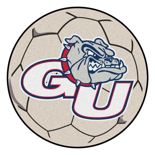 NCAA Gonzaga University Bulldogs Soccer Ball Mat Round Area Rug - IMAGE 1