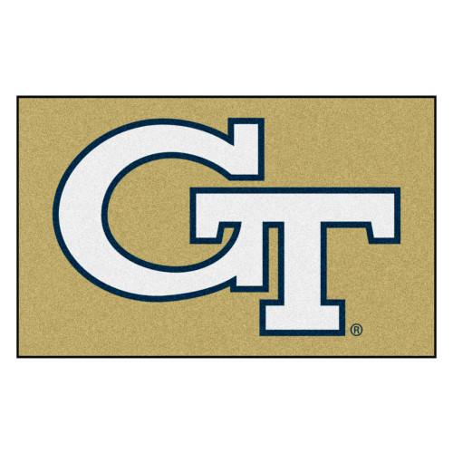 5' x 8' White NCAA Georgia Tech Yellow Jackets Mat Rectangular Area Rug - IMAGE 1