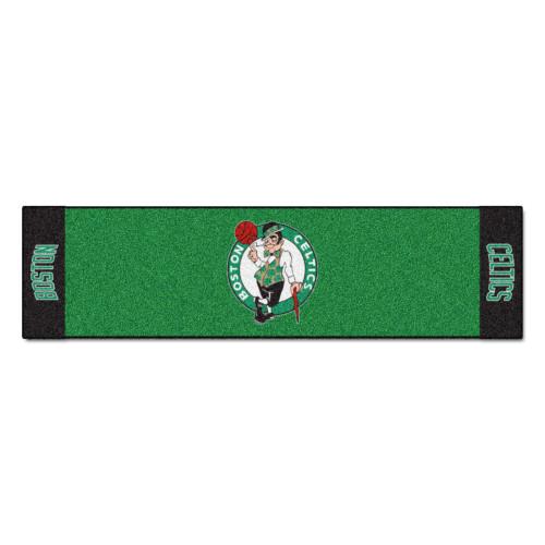 "18"" x 72"" Green and Black NBA Boston Celtics Golf Putting Mat - IMAGE 1"