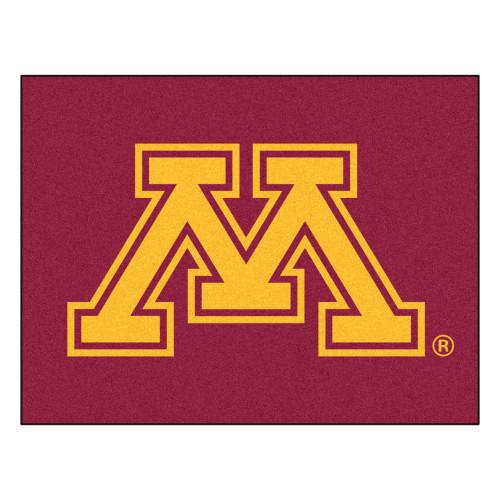 "33.75"" x 42.5"" Red and Yellow NCAA University of Minnesota Golden Gophers Rectangular Doormat - IMAGE 1"