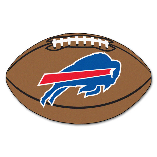 "20.5"" x 32.5"" Brown and Blue NFL Buffalo Bills Football Oval Door Mat - IMAGE 1"