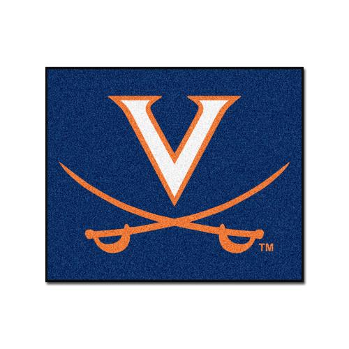 "59.5"" x 71"" Blue NCAA University of Virginia Cavaliers Tailgater Rectangular Area Rug - IMAGE 1"