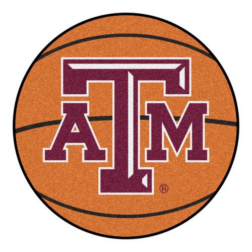 "27"" Orange and Purple Contemporary NCAA Texas University Round Area Rug - IMAGE 1"