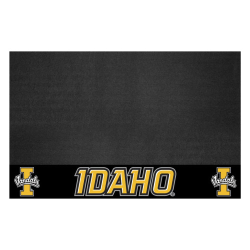"""26"""" x 42"""" Black and Yellow NCAA University of Idaho Vandals Grill Mat Tailgate Accessory - IMAGE 1"""