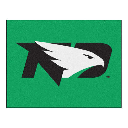 "33.75"" x 42.5"" Green NCAA University of North Dakota Fighting Hawks All Star Non-Skid Mat Area Rug - IMAGE 1"