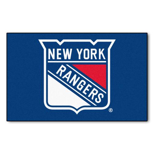 "59.5"" x 94.5"" Blue NHL New York Rangers Ulti-Mat Rectangular Area Rug - IMAGE 1"