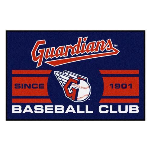 "19"" x 30"" Red MLB Cleveland Indians Starter Mat Rectangular Area Rug - IMAGE 1"