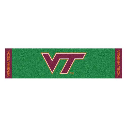 """18"""" x 72"""" green and Red NCAA Virginia Tech Hokies Golf Putting Mat - IMAGE 1"""