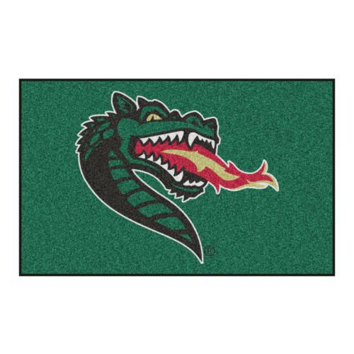 "59.5"" x 94.5"" Green and Red NCAA University of Alabama at Birmingham Blazers Ulti-Mat Area Rug - IMAGE 1"