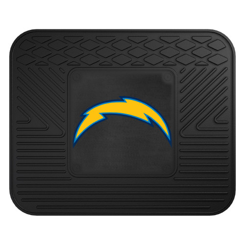 """14"""" x 17"""" Black and Yellow NFL Los Angeles Chargers Rear Car Seat Utility Mat - IMAGE 1"""
