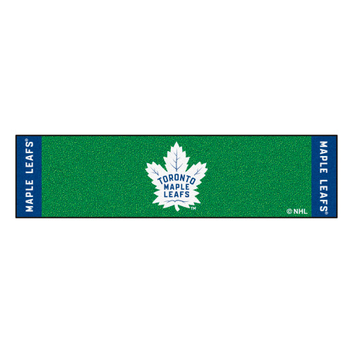"""18"""" x 72"""" Green and Blue NHL """"Toronto Maple Leafs"""" Putting Mat Golf Accessory - IMAGE 1"""