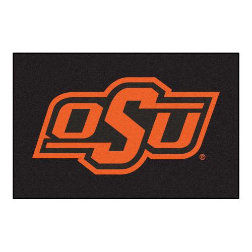 "19"" x 30"" Black and Orange NCAA Oklahoma State University Cowboys Starter Mat - IMAGE 1"