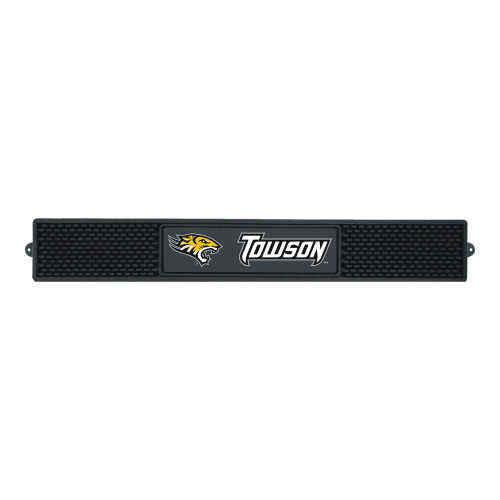 """3.25"""" x 24"""" Black NCAA Towson University Tigers Drink Mat Tailgate Accessory - IMAGE 1"""