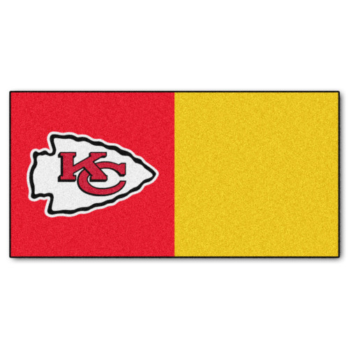 "20pc Gold and Red NFL Kansas City Chiefs Team Carpet Tile Set 18"" x 18"" - IMAGE 1"