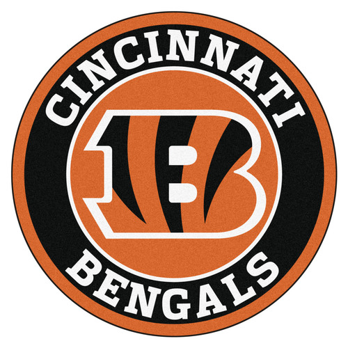 "27"" Black and Orange NFL Cincinnati Bengals Roundel Mat - IMAGE 1"