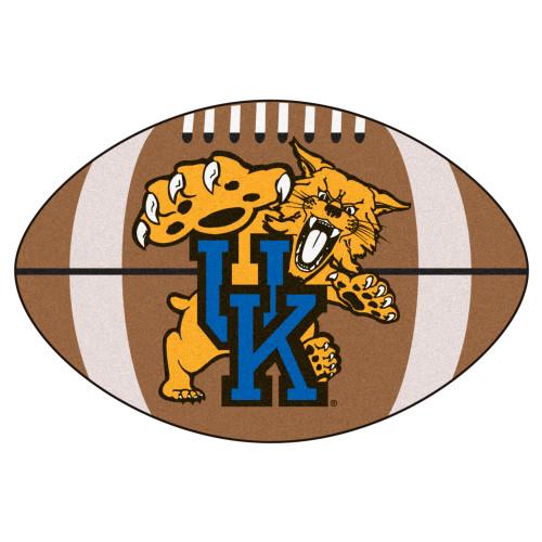 "20.5"" x 32.5"" Black and Blue NCAA University of Kentucky Wildcats Football Mat Area Rug - IMAGE 1"